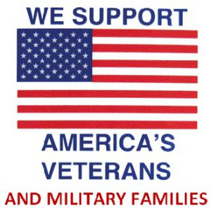 Logo supporting our veterans