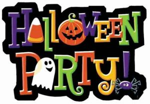 kids halloween party graphic